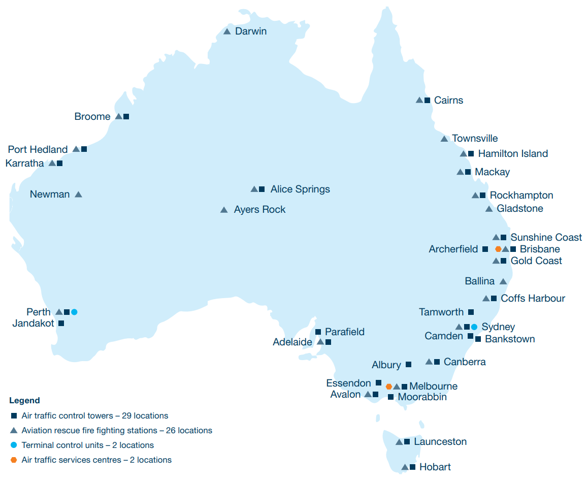 Figure 2: Our national facilities—as at 30 June 2019